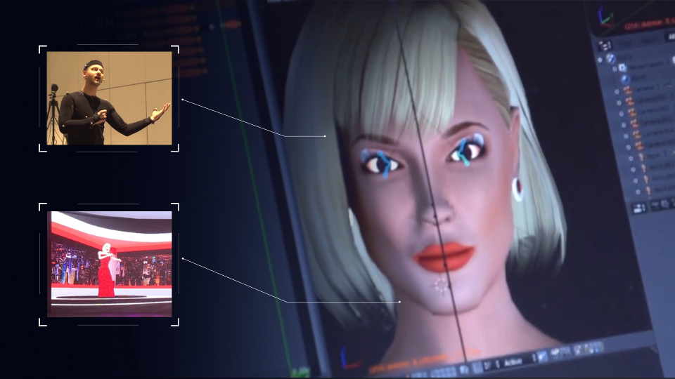 An Interactive Virtual Host - a virtual 3D avatar